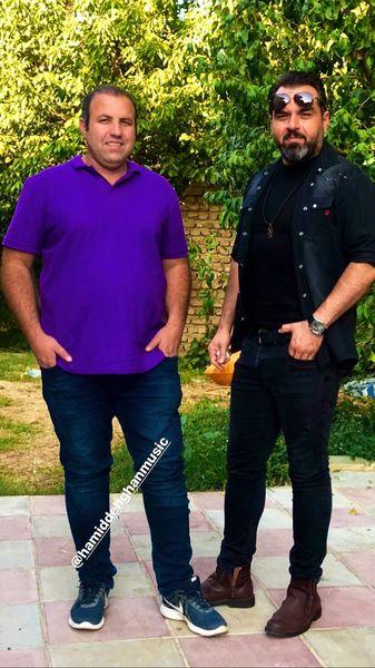 شهرام قائدی و دوستش در ویلا + عکس