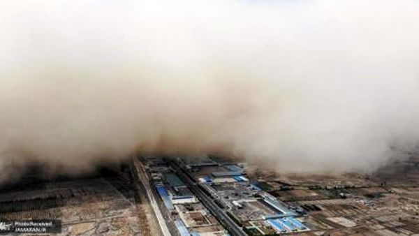 طوفان شن وحشتناک در چین+ فیلم