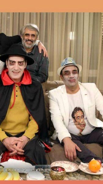 گریم های عجیب آقایون بازیگر در شام ایرانی + عکس