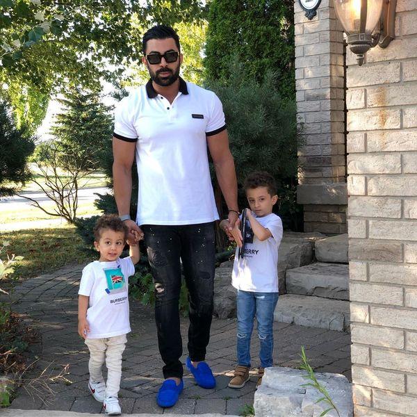 ورزش همسر ورزشکار روناک یونسی و بچه هایش+عکس