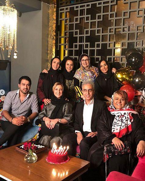 تولد رضا رفیع در جمع بازیگران+عکس
