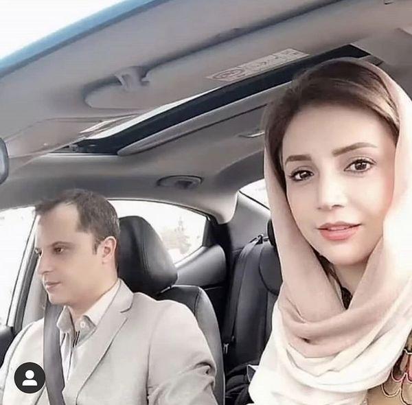 شبنم قلی خانی و همسرش در ماشین شخصیشون + عکس