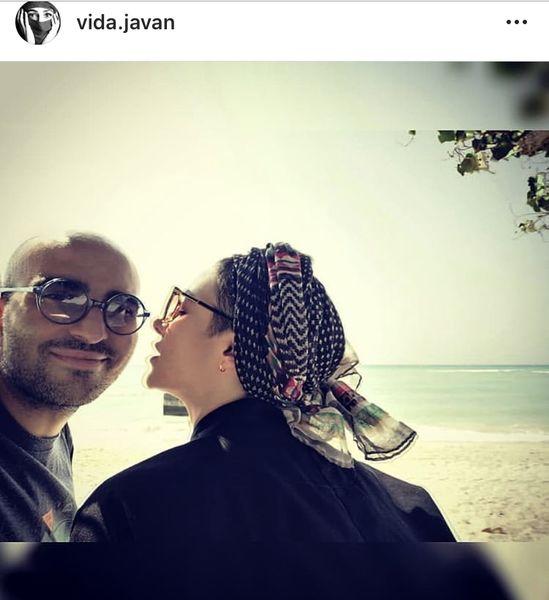 ویدا جوان و همسرش + عکس