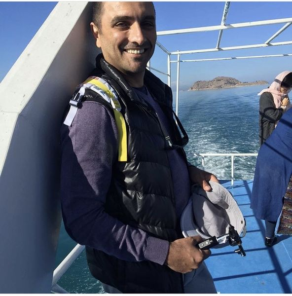 امین زندگانی در یک کشتی تفریحی + عکس