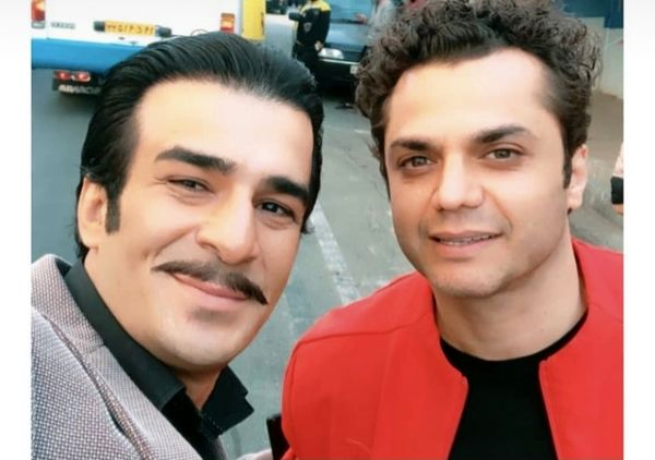سلفی یوسف تیموری با آرش ظلی پور در خیابان + عکس
