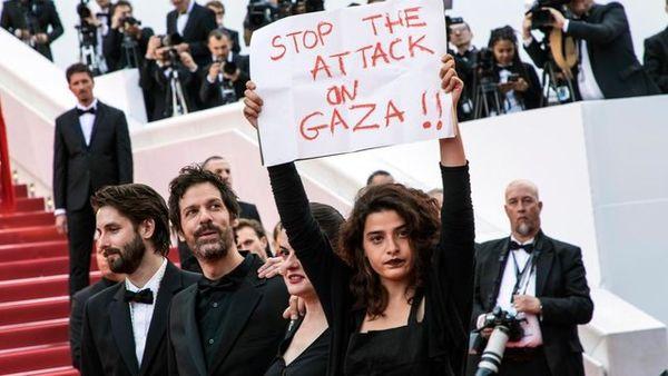 کشتارهای غزه در جشنوارهی کن محکوم شد+عکس
