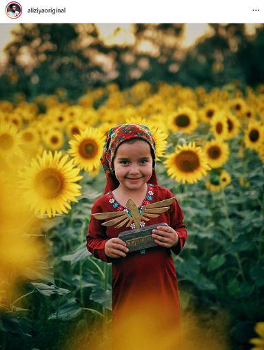 عکس دختر زیبای ترکمن در صفحه علی ضیا