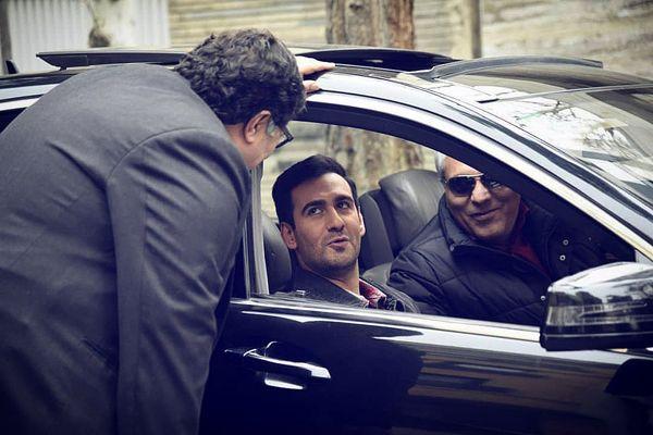 گردش نیما خندوانه با ماشین لوکس مهران مدیری+عکس