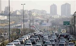 ترافیک سنگین در آزادراه کرج