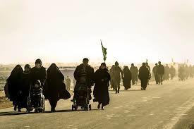 حضور فرزند شهید مدافع حرم در پیاده روی اربعین+عکس