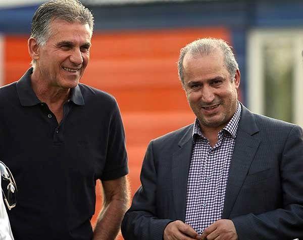 تاج: جلسه خوبی با کیروش درباره شرایط تیم ملی فوتبال برگزار کردیم