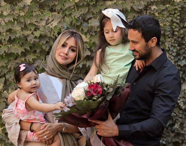 شاهرخ استخری در کنار خانواده اش+عکس