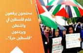 معترضان در آمریکا پرچم فلسطین را برافراشتند