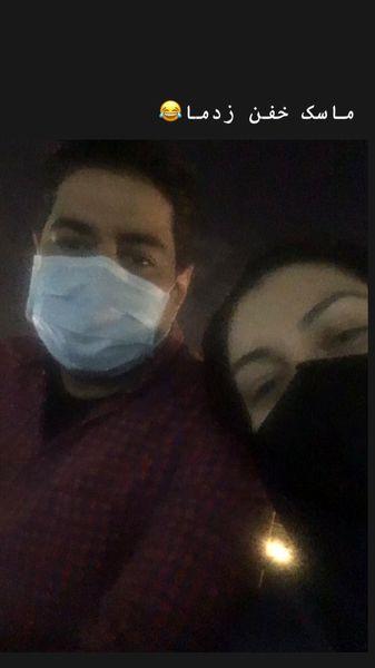ماسک خفن آزاده نامداری + عکس