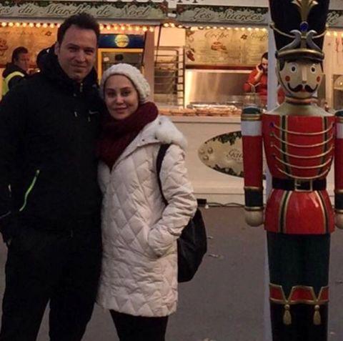 آرام جعفری در کنار همسرش + عکس