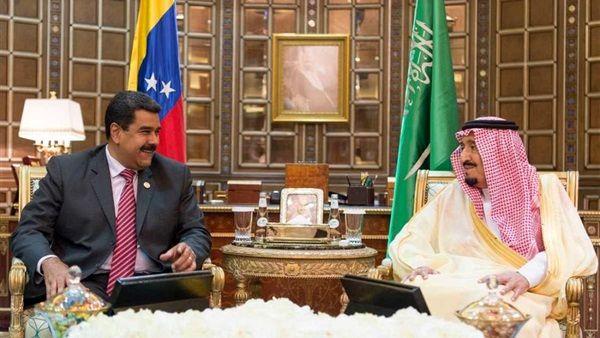 دیدار ملک سلمان با رئیس جمهور ونزوئلا در ریاض