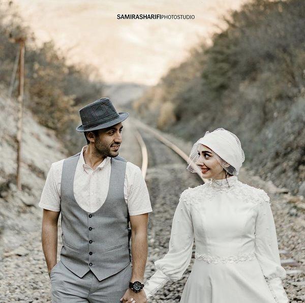 عکس عروسی خانم و آقای بازیگر جوان