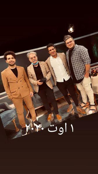 حمید لولایی و یوسف تیموری در یک برنامه تلوزیونی + عکس