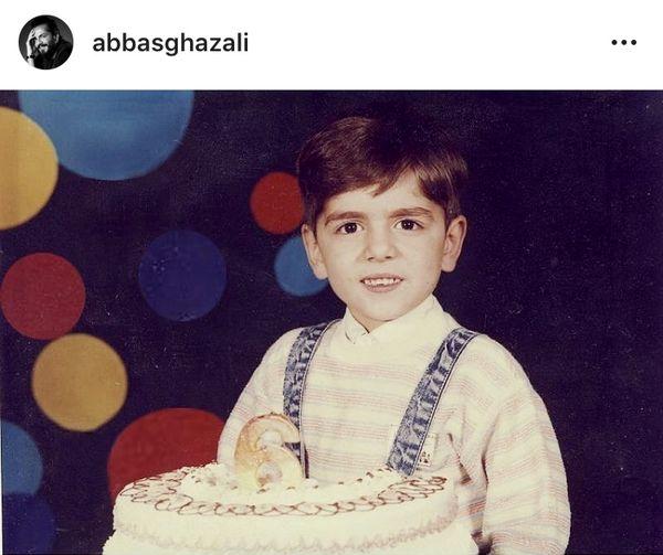 تولد عباس غزالی در کودکی + عکس