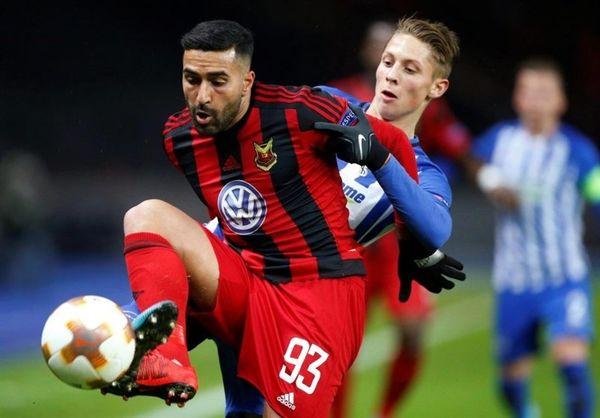 واکنش قدوس به انتخابش بهعنوان بازیکن ماه لیگ برتر سوئد + عکس