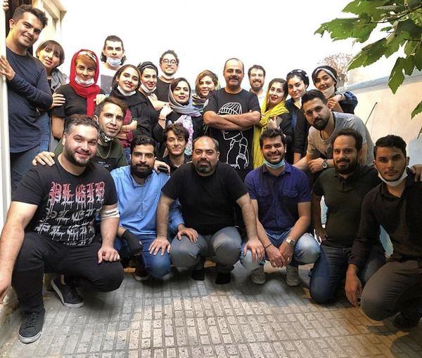رضا مولایی و شاگردانش + عکس