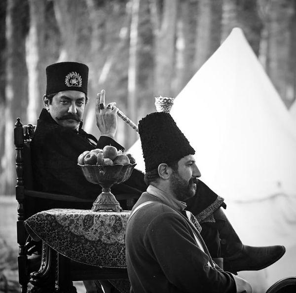 بهرام رادان در لباس ناصرالدین شاه + عکس