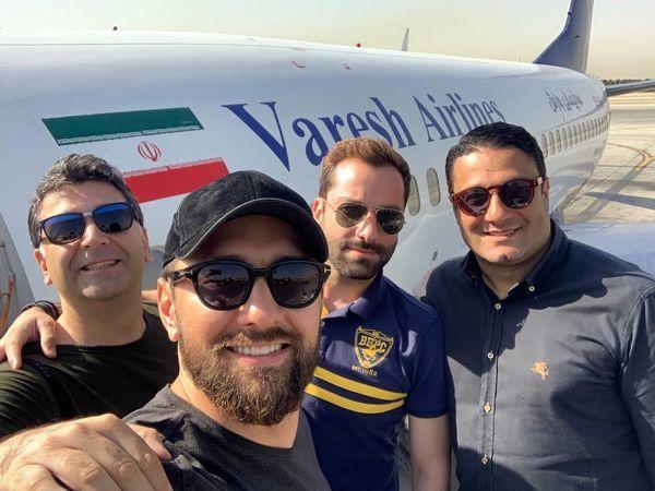 هواپیمای شخصی بهرام رادان و دوستانش + عکس