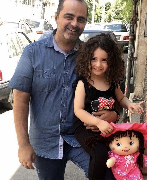 رضا مولایی وخواهرزاده اش + عکس