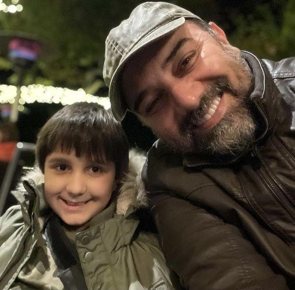 سلفی پدر و پسری برزو ارجمند + عکس