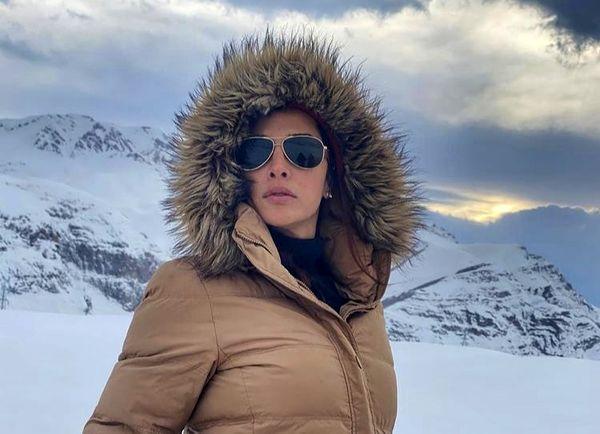 تیپ جدید آتاهیتا درگاهی در برف + عکس