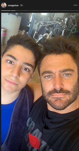 عکس گلزار و برادرزاده اش در ورزشگاه