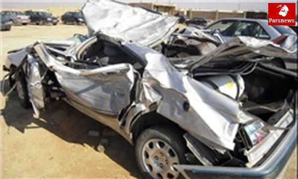 حادثه برخورد کامیون و پژو