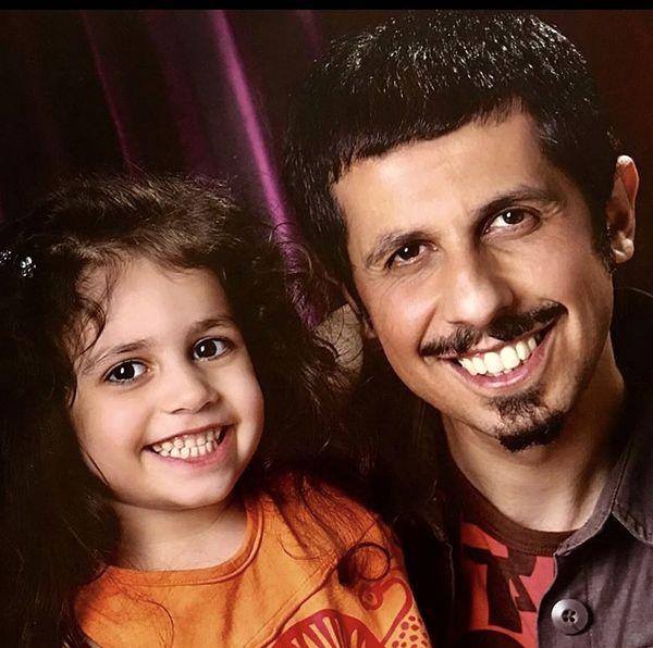 دختر کوچک جواد رضویان + عکس