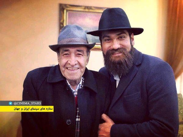 علی زند وکیلی با ظاهری خاص در ملاقات با ایرج خواجه امیری+عکس