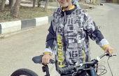 دوچرخه سواری آنا نعمتی در پارک + عکس