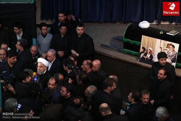 رئیس جمهور:آیت الله هاشمی پس از حادثه هفتم تیر بار سنگین نظام را بر دوش گرفت