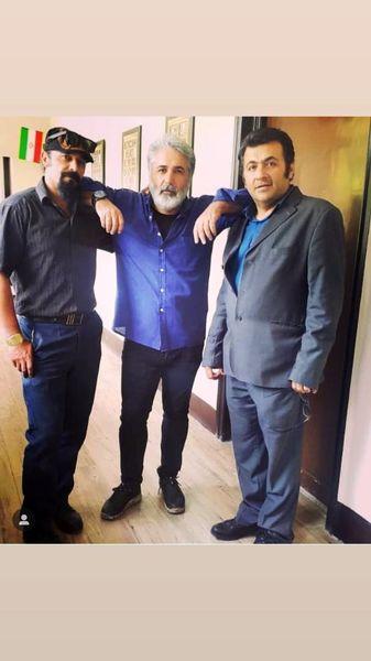 مهدی صبایی در کنار دوستانش + عکس