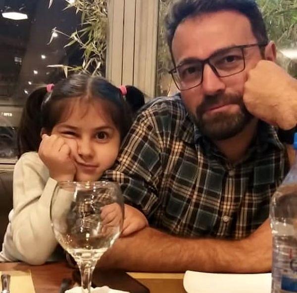آرش مجیدی و دخترش + عکس
