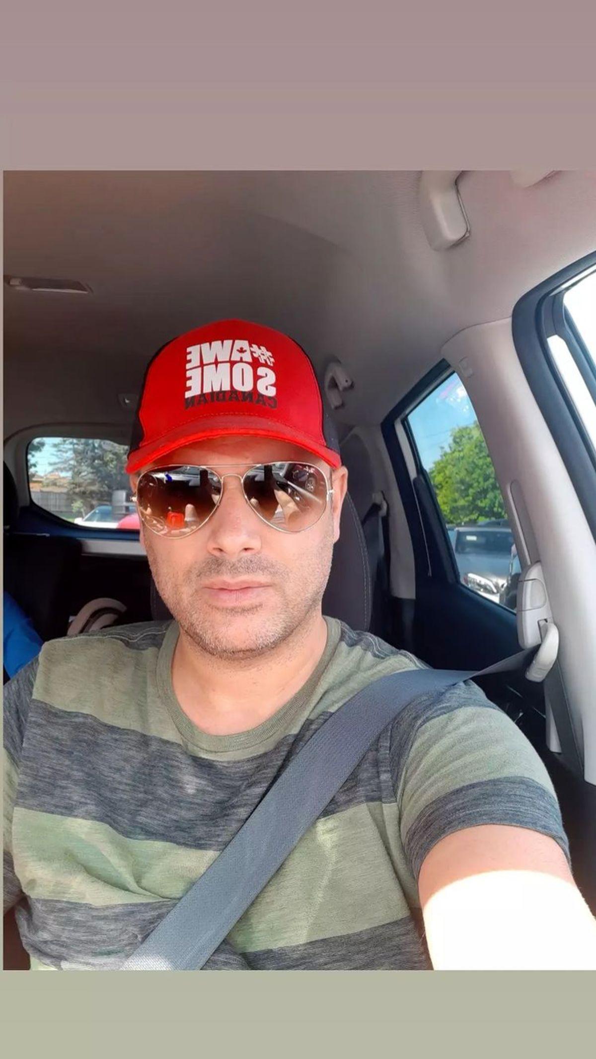 سلفی جدید شهروز ابراهیمی در ماشینش + عکس