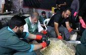 استقرار موکب در مرزهای سهگانه و توزیع غذا بین زوار اربعین