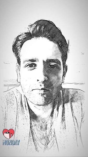 چهره سیاه قلمی امیرحسن آرمان + عکس