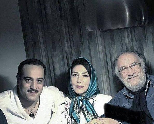 داریوش ارجمند با همسر و فرزندش+عکس