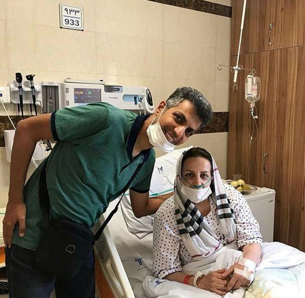 حضور عادل فردوسی پور در بیمارستان+عکس