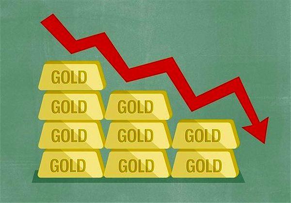 کاهش قیمت طلا در معاملات دیروز