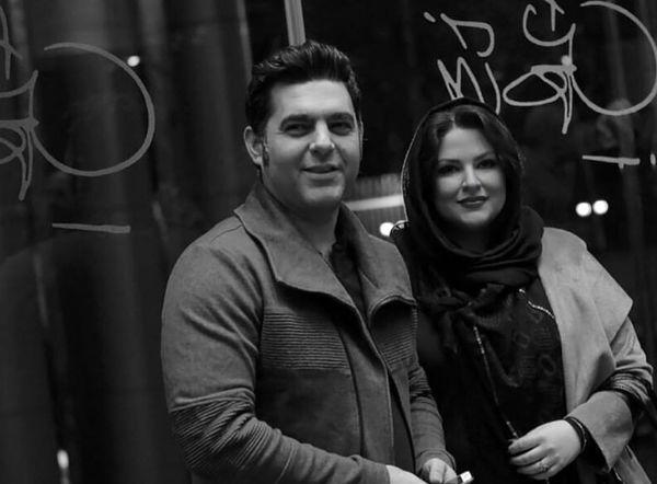 عکس سیاه و سفید مصطفی کیایی و همسرش