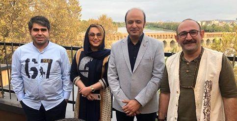 امیر نوری، بهنوش بختیاری و هدایت هاشمی در اصفهان/عکس