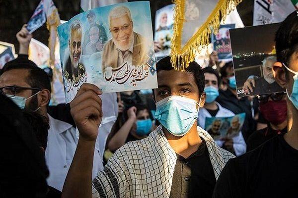 دسته عزاداران حشد الشعبی در کربلای معلی