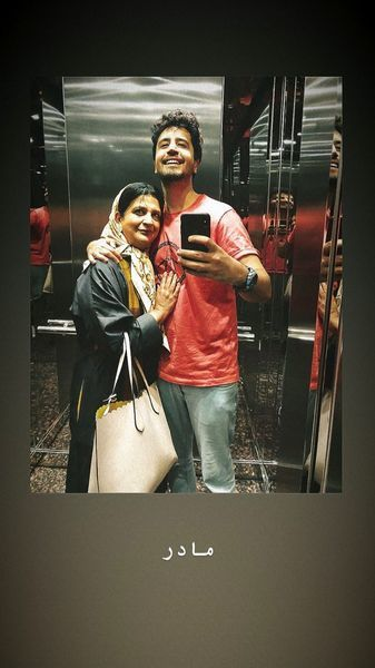عکس عاشقانه مهرداد صدیقیان و مادرش