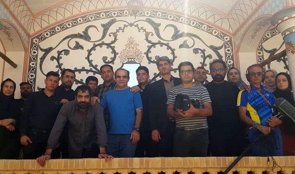 گردش تیمی اصغر حیدری در کاشان+عکس