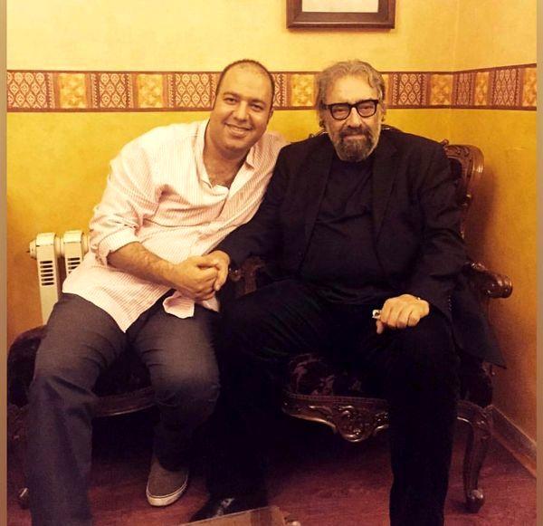 علی اوجی در کنار کارگردان مشهور + عکس